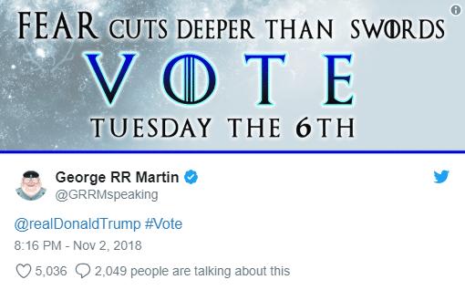 """Il """"votate per i Democratici"""" è sottinteso, ma evidente"""