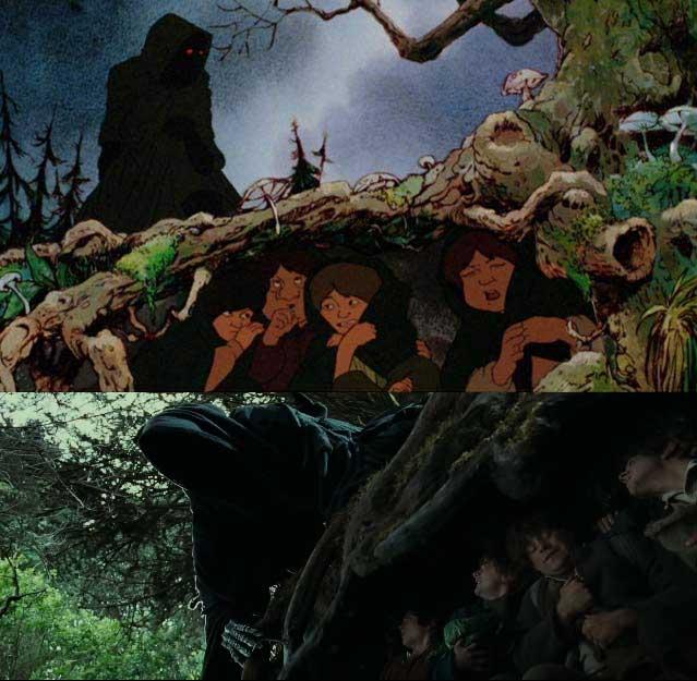 Le similitudini tra il film animato e il film di Jackson