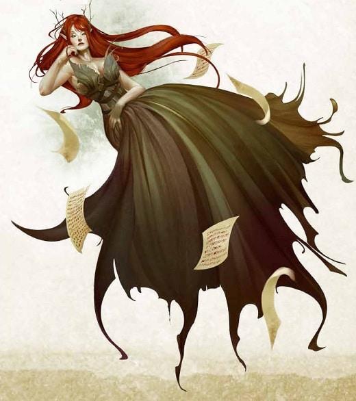 La Leanan Sidhe rappresentata nel Bestiario 4. Immagine di proprietà di Paizo