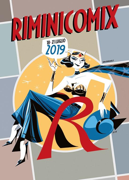 Locandina del RIMINICOMIX 2019, creata da Antonio Lapone