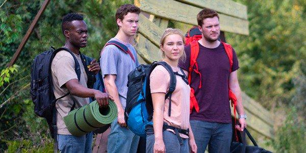 Da sinistra a destra: William Jackson Harper (Josh), Will Poulter (Mark), Florence Pugh (Dani) e Jack Reynor (Christian)