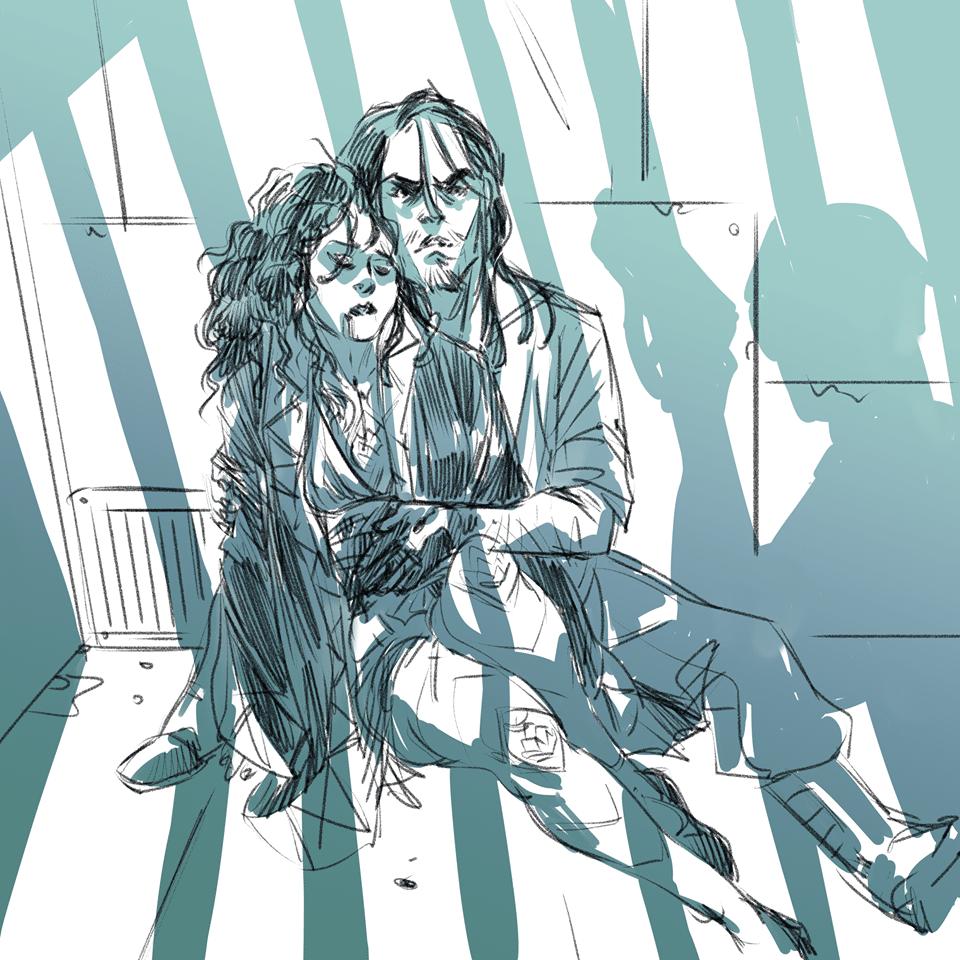 Reem e Jafar rapiti, in un illustrazione della nostra bravissima Alessia.