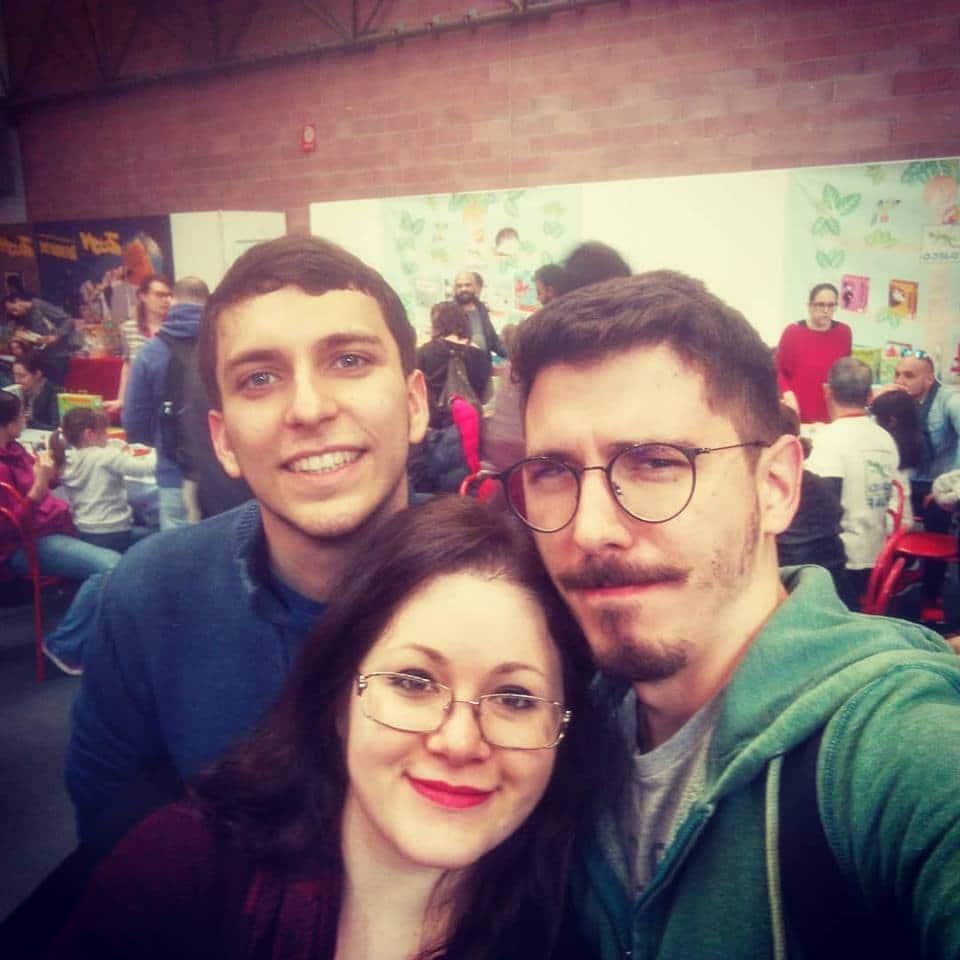 Da sinistra: Cercatore S, Cercatrice G e Cercatore Y, dal Modena Play! Con i Cercatori a Lucca, ci assicureremo di fare nuove foto insieme!