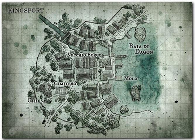 Per giungere fino a Dagon si deve esplorare fino in fondo Kingsport, la mappa è di grande aiuto!