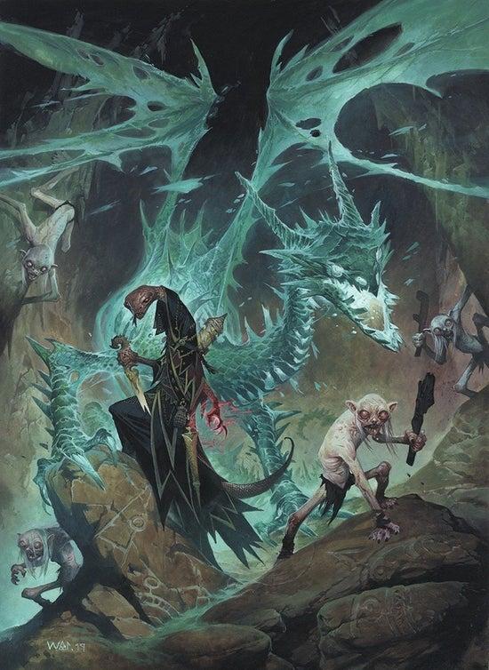 Copertina del da poco annunciato Bestiario 2 di Pathfinder Seconda Edizione, sempre ad opera di Wayne Reynolds