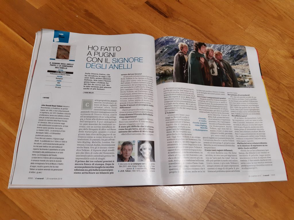 L'intervista a Fatica uscita sul Venerdì di La Repubblica