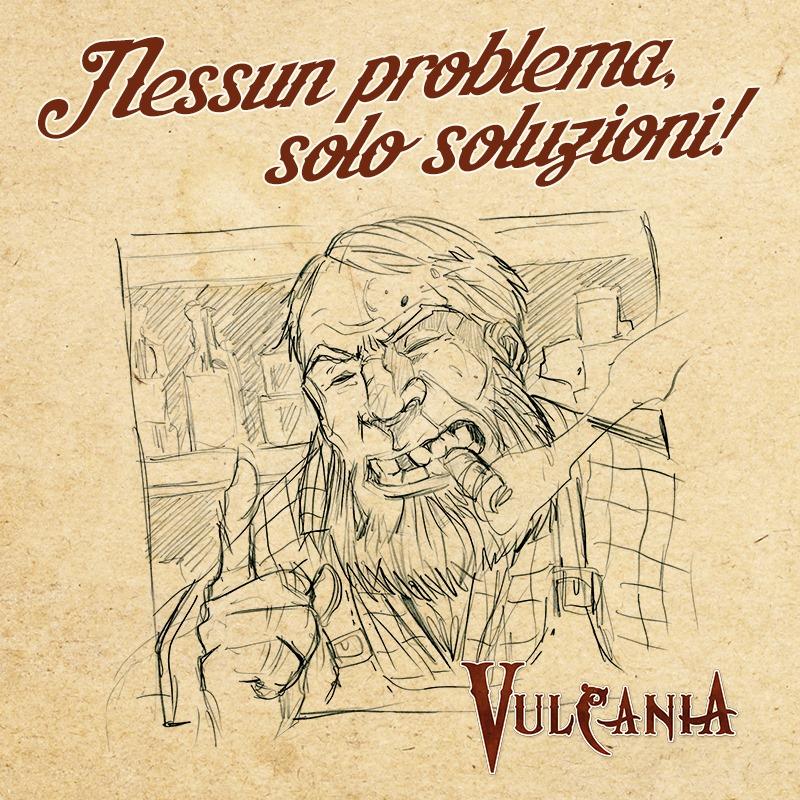 Una delle tantissime illustrazioni che potrete trovare su Vulcania