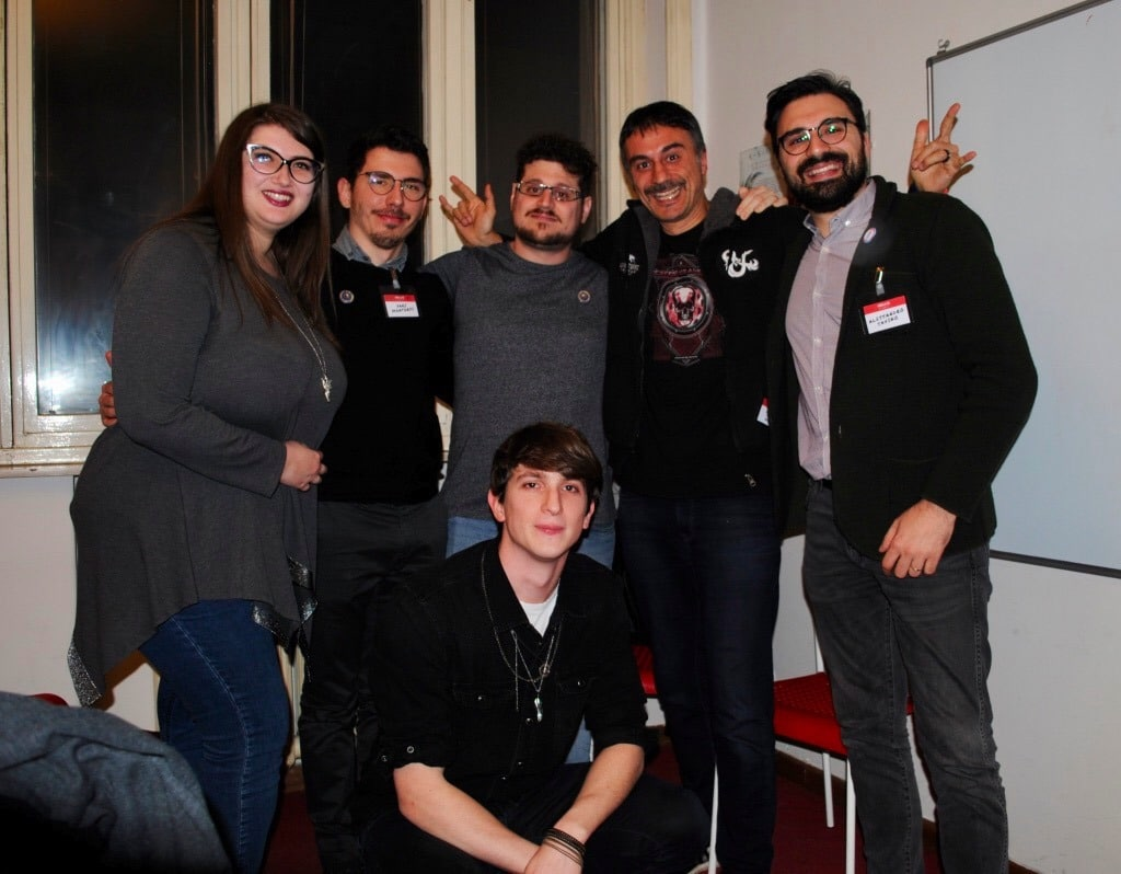 Zoltar, io ed Alessandro al Masterclass con lo staff Storytellers