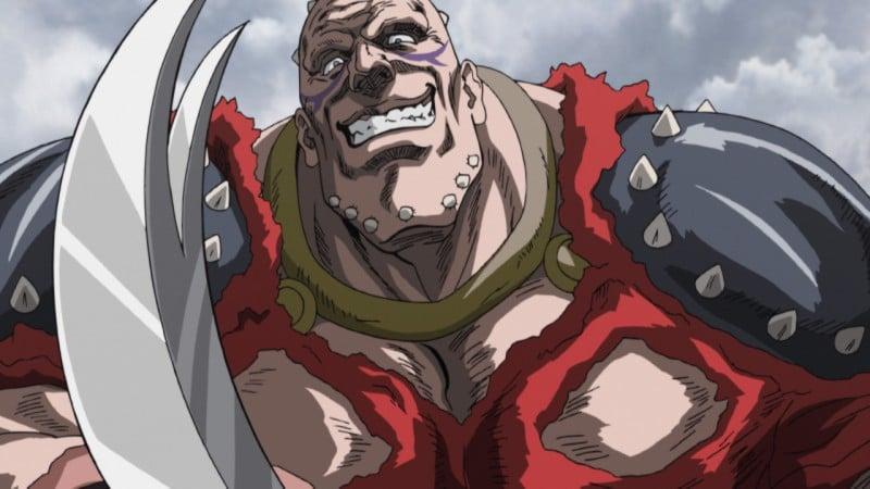 """Gades, il gladiatore di """"Ken il Guerriero - La Leggenda del Vero Salvatore"""", assomiglia molto all'avversario di Dragonero in L'urlo della carne: Kilvar"""