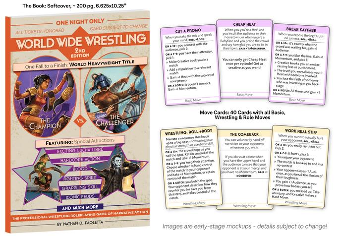Le carte delle mosse di World Wide Wrestling