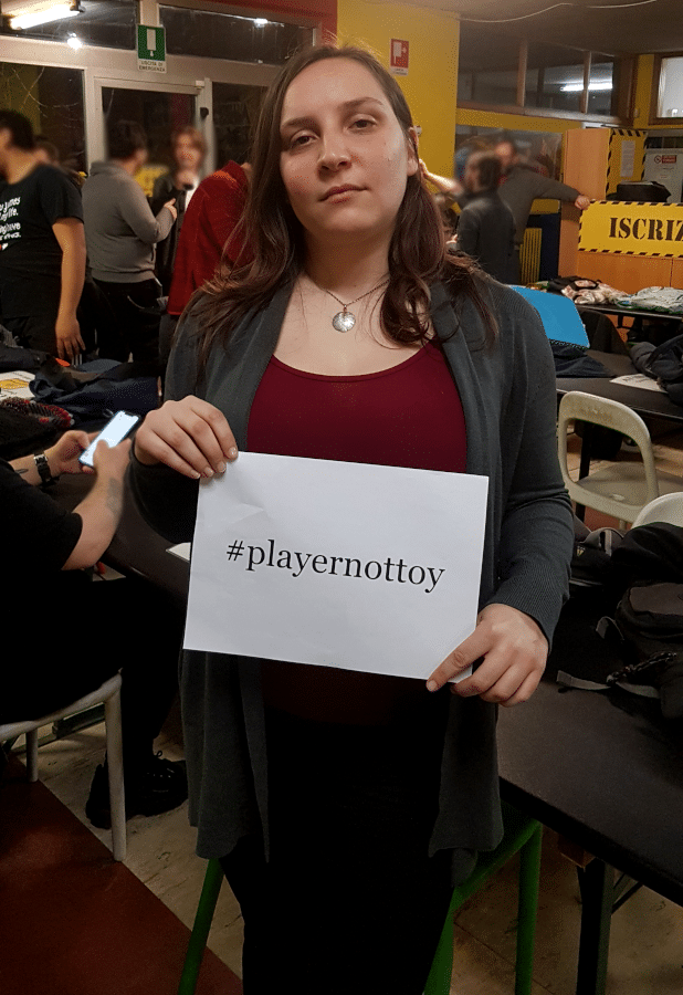 Veronica Fantoni, ideatrice di #playernottoy
