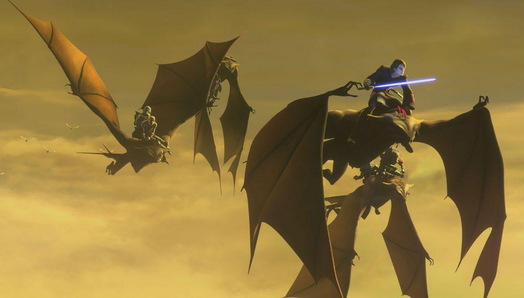 "Una scena di ""On the Wings of Keeradaks"""
