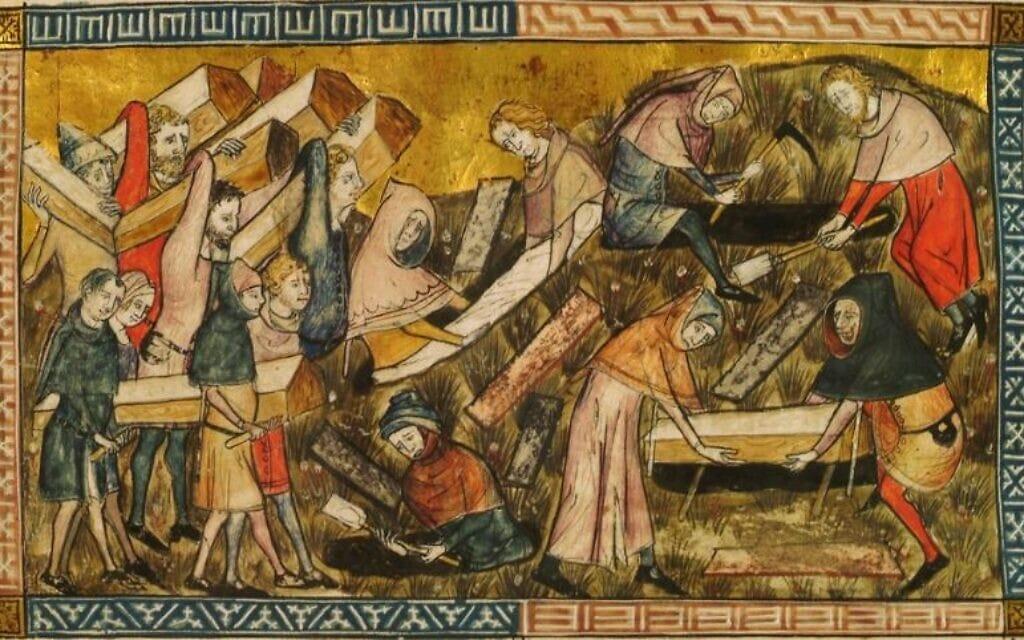 quadro medievale tema epidemia