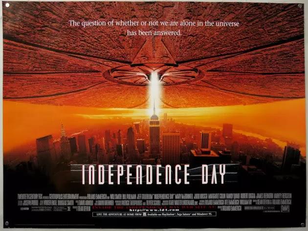 Independence Day, che ha tutto un altro approccio alle paure umane dell'epoca