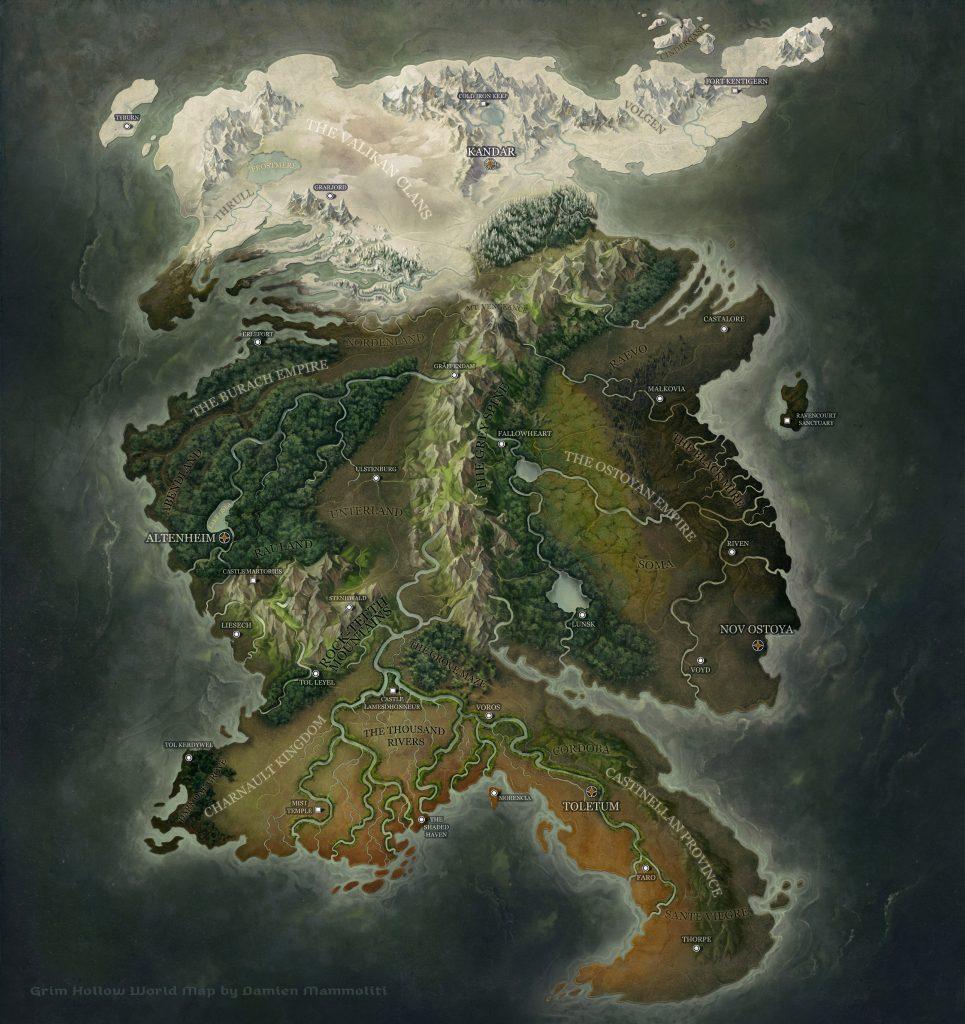 Mappa di Grim Hollow