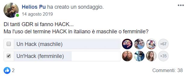 Il famoso sondaggio di Helios, in cui la sottoscritta ha votato il femminile