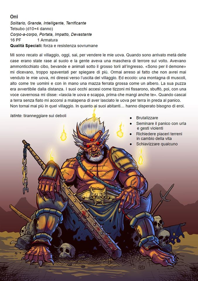"""Un'immagine dalla hack (detta """"un mio hack"""") giapponese di Dungeon World di Luca Maiorani di Giochi dal Nuraghe"""