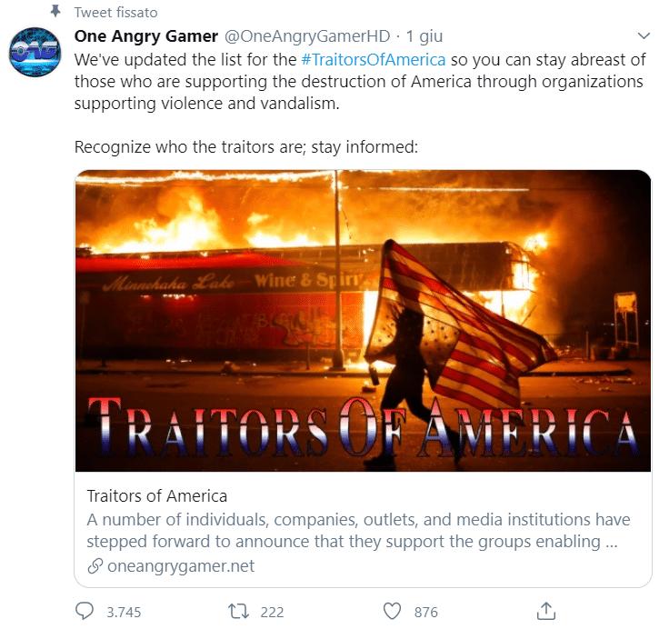 One Angry Gamer è ben attivo anche su Twitter, dove annuncia ogni nuova realtà aggiunta alla lista
