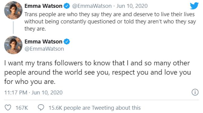 La risposta di Emma Watson a J. K. Rowling