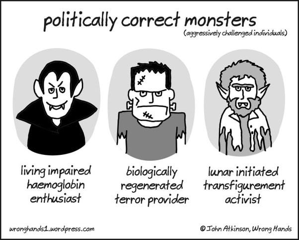 Un esempio satirico di politicamente corretto di facciata
