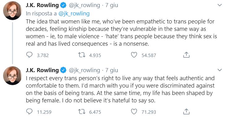 Il falso supporto di J. K. Rowling alle persone trans