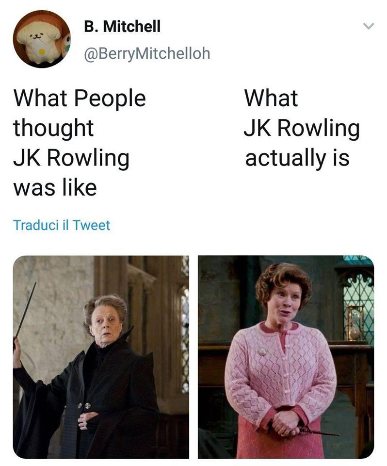 La mia personale opinione sulla Rowling dopo gli ultimi due anni