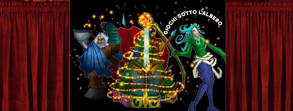 Immagine di copertina di Giochi sotto l'albero, uno dei progetti di Giochi di Ruolo – Il GdR in Italia (ex Player dei GDR). Illustrazione di Diego Pisa Artwork