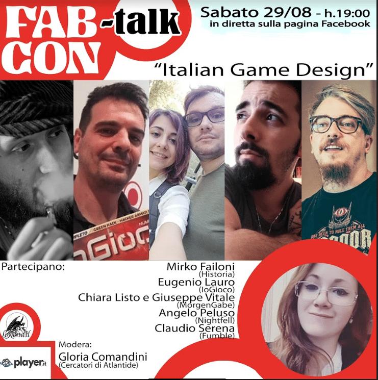 Il terzo talk online del Fabcon 2020: Italian Game Design