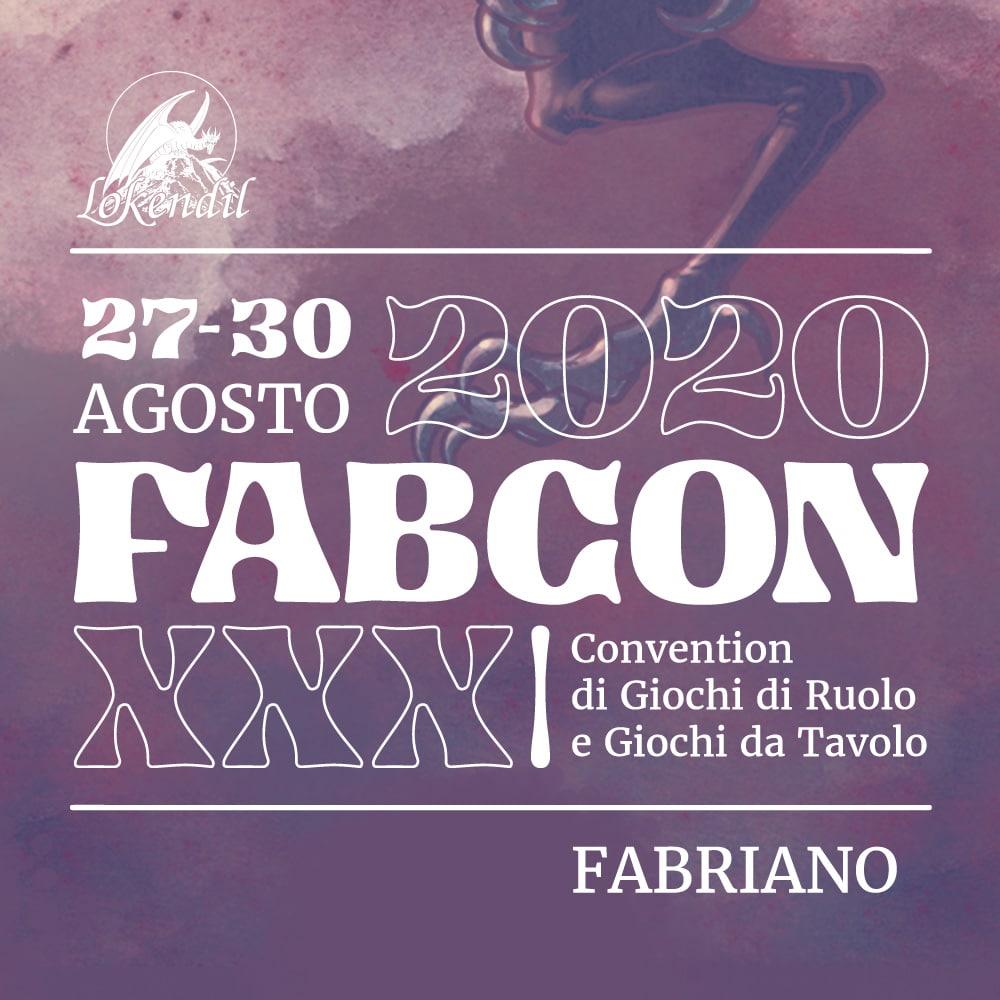 La locandina del FabCon 2020, in cui si è tenuta la talk Italian Game Design
