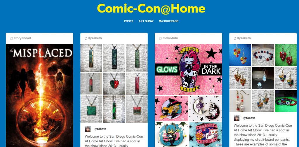 Anche l'uso di Tumblr come galleria virtuale per gli artisti non è stato il massimo per il San Diego Comic-Con