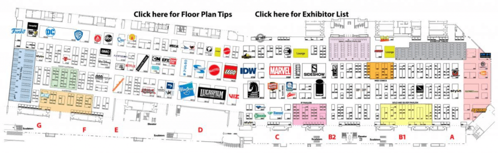 La mappa online del San Diego Comic-Con Online, difficilissima da navigare. Provare per credere!