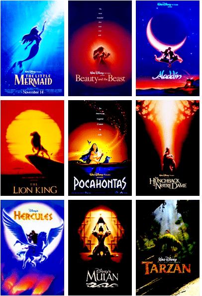 I maggiori titoli del Rinascimento Disney