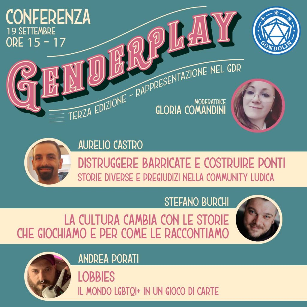 La locandina della conferenza del Genderplay 3.0