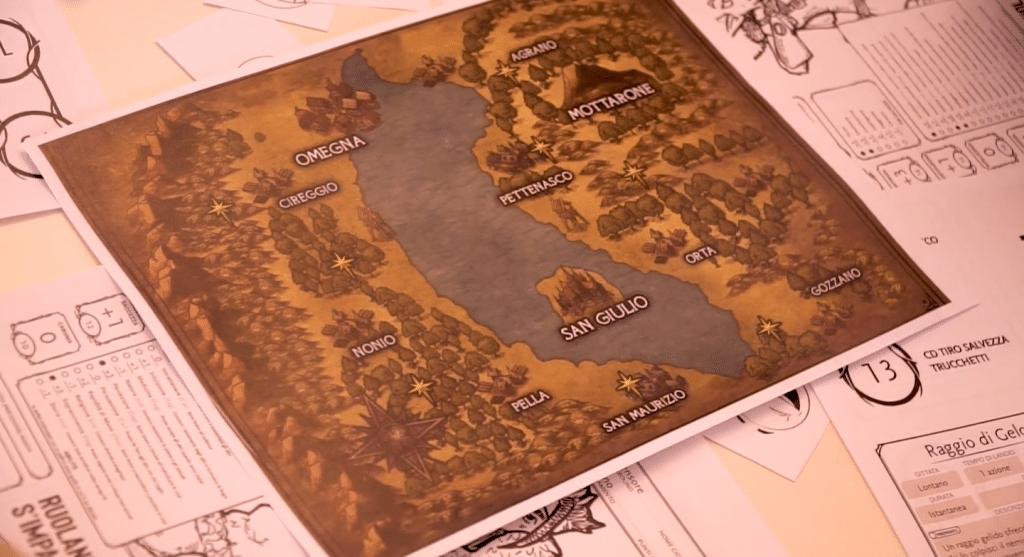 La mappa del Lago d'Orta, dove sono ambientate le sessioni di Ruolando s'Impara