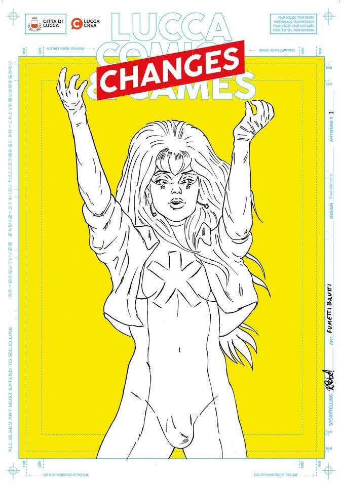 La locandina fatta da Fumettibrutti per Lucca Changes