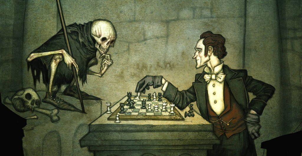 Una partita a scacchi durante il gioco