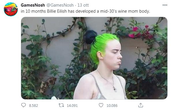 Billie Eilish body shaming wine mom