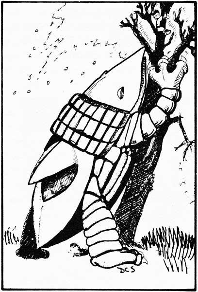 La prima Bulette in D&D. Lo vedete lo snack a forma di Halfling sull'albero?