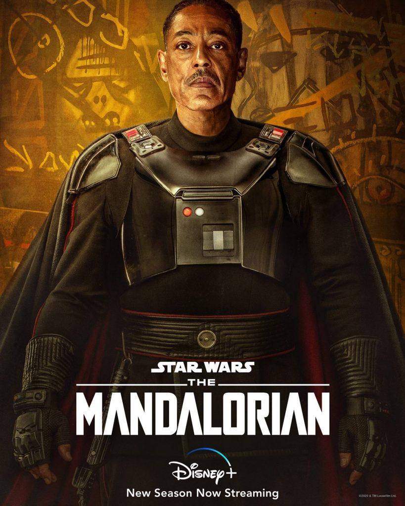 Moff Gideon nel poster promozionale de L'Assedio