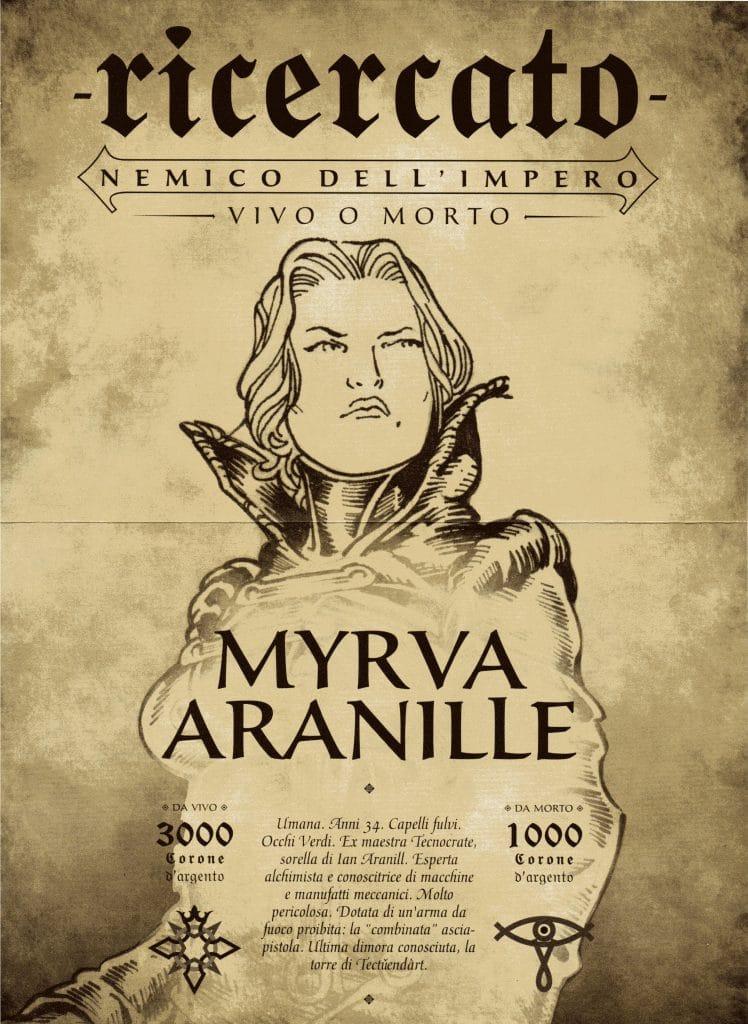 L'avviso di taglia di Myrva, anche lei è tra i Ricercati!