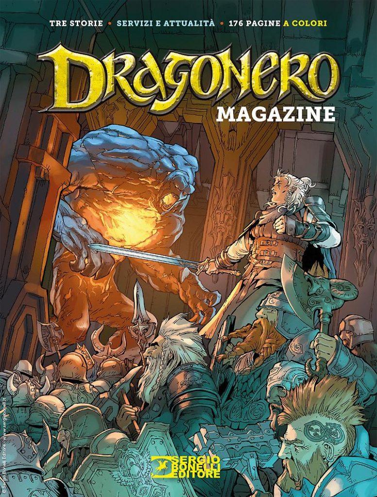 Oltre a Ricercati! è uscito Dragonero Magazine 2020 tutto incentrato sui nani. in copertina campeggia una miriade di nani