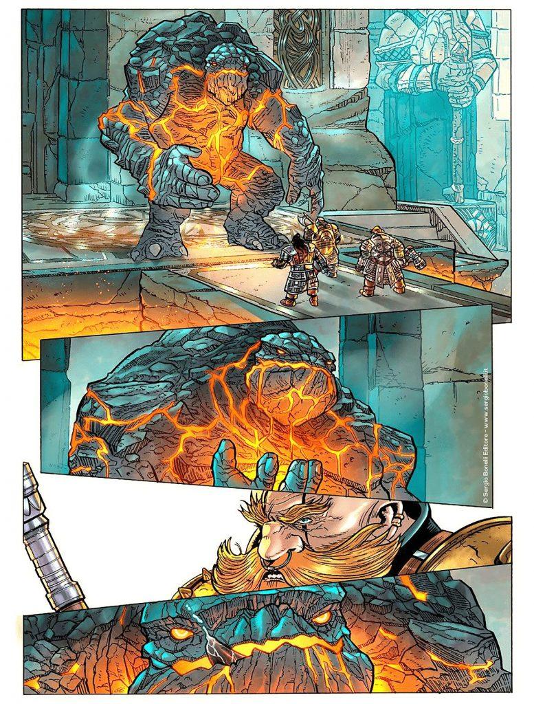 Smerl, Rouhark e Harlagh affrontano un troll di lava
