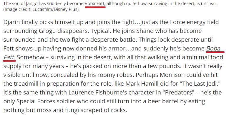 "Boba Fett diventa ""Boba Fatt"" in Space.com"
