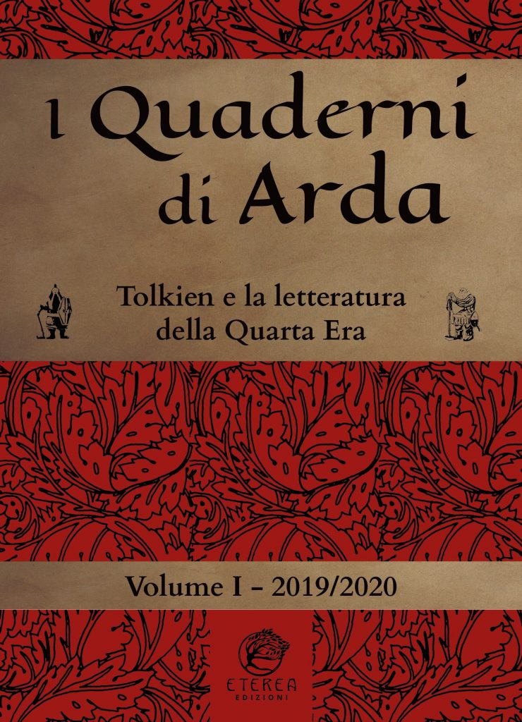 Copertina del primo volume dei Quaderni di Arda, in cui sono stati pubblicati gli atti dello scorso convegno tolkieniano