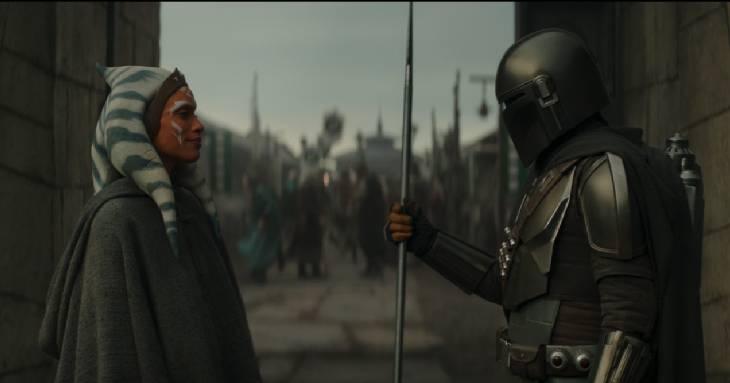 Ahsoka e Din Djarin ne La Jedi