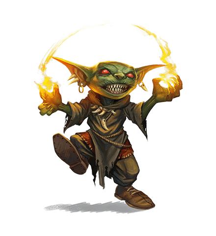 Un Goblin di Pathfinder 2 pronto a dar fuoco a tuttecose