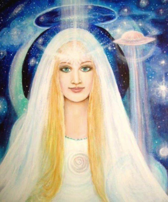 Immagine di repertorio di una aliena Pleiadiana. O forse è Galadriel?