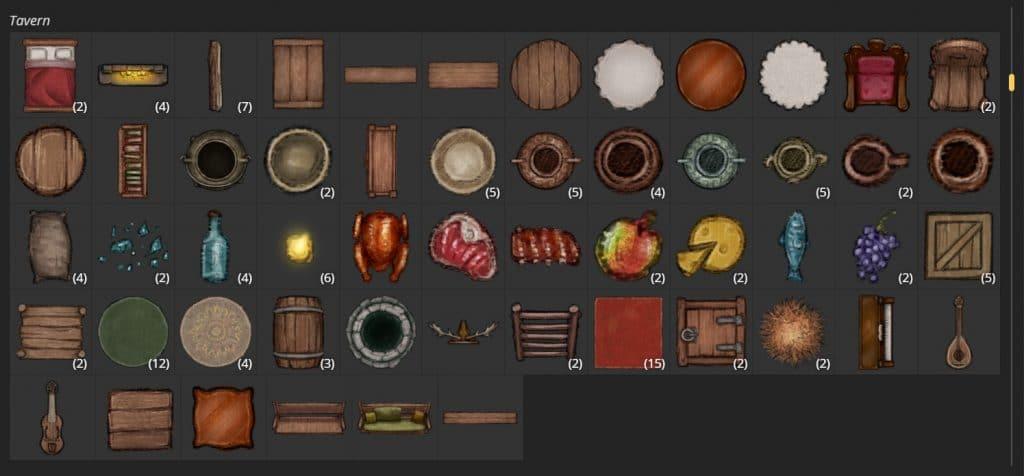 """Gli Stamp tool del tipo """"taverna"""" di Inkarnate 2.0"""