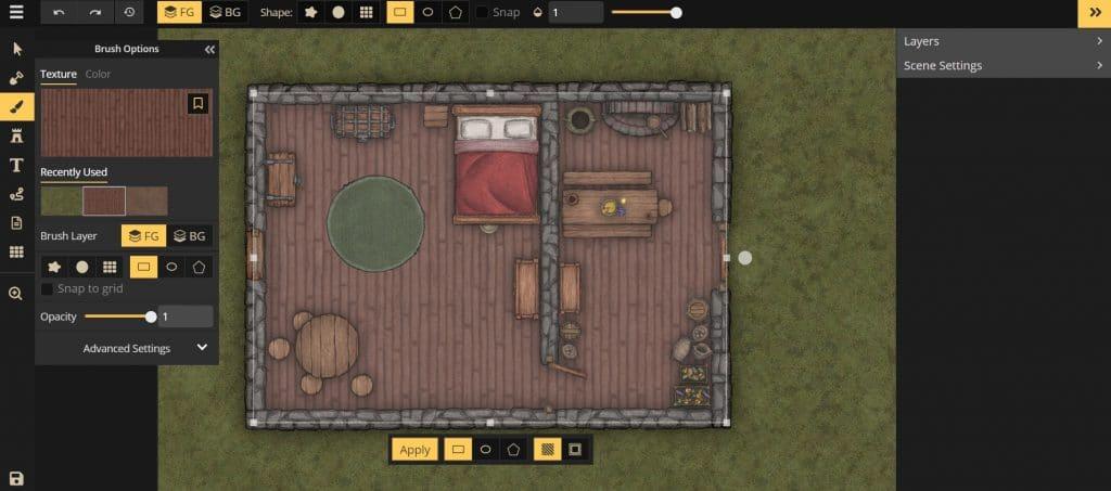 Il tutorial su come costruire una casa su Inkarnate