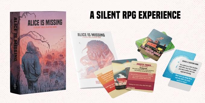 Alice is Missing è un gioco molto compatto: un libretto di istruzioni e 72 carte